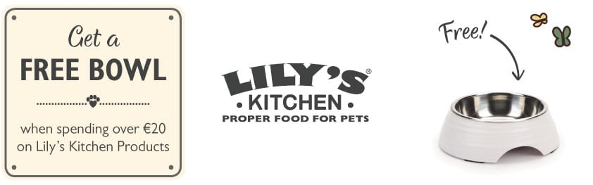 free bowl with over 20eur spent on lily's kitchen